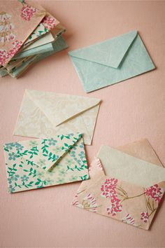 endless uses: guestbook alternative, place cards, thank you notes, tip envelopes...| Fanciful Mini Envelopes (set of 20) from @BHLDN