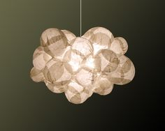 Cloud lamp out of rise paper. LAUDERMILCH - Objects and Ideas