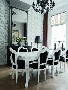 160 Best Black And White Dining Room Images