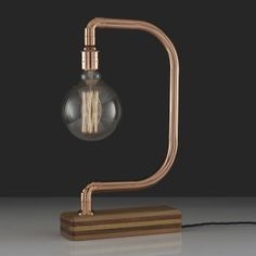 D-Light Copper Desk Lamp | Lumens and Wood | thegiftedfew.com | Vintage Industrial Lighting | Trend 2015 | Warehouse Home Design Magazine