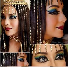 Cleopatra makeup represents a gorgeous look. Here is what you have to do in order to achieve the same makeup as the beautiful Cleopatra. Cleopatra Makeup, Egyptian Makeup, Egyptian Beauty, Cleopatra Facts, Egyptian Hair, Egyptian Women, Egyptian Jewelry, Cleopatra Halloween, Cleopatra Costume