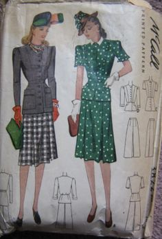McCall 3822: Misses' two-piece dress