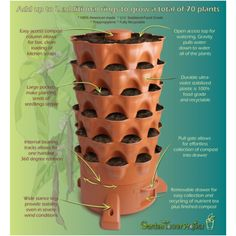 Grow 50 plants vertically with the only vermicomposting container! The patented, award-winning Garden Tower 2 grows plants vertically, enabling you to grow 50 plants or more in just 4-square feet - ...