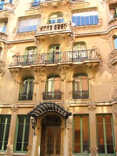 House of Lilies - One of the masterpieces of the art-nouveau architectural style in Paris is tucked into a quiet little street near the Champ de Mars park in the 7th arrondissement.  #Art #Nouveau