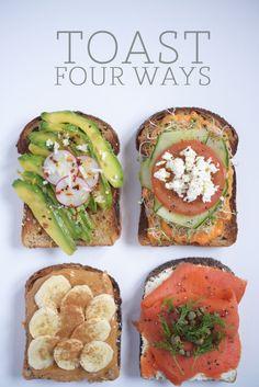 Toast four ways. Xo, LisaPriceInc.