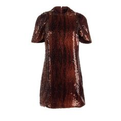Ellery Womens Sequined Silk Party Dress
