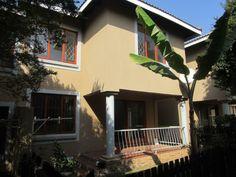 3 Bedroom Townhouse to rent in Paulshof - Sandton Guest Toilet, Roof Tiles, Plaster Walls, Property For Rent, Open Plan Kitchen, Reception Rooms, Townhouse, Bedroom, Outdoor Decor