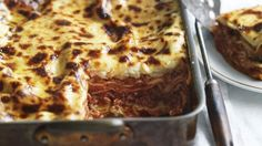 Neil Perry's buffalo mozzarella lasagne - so delicious. One of the best Lasagne recipes ever. Can substitute normal mozzarella and ricotta for some of the buffalo Mozzarella - it gets pricey Lasagne Dish, Lasagne Recipes, Savoury Recipes, Pasta Recipes, Yummy Recipes, Pasta Meals, Noodle Recipes, Meat Recipes, Greatest Lasagna Recipe