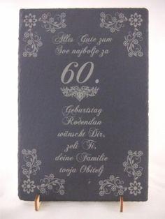 Laser Gravur Service - Baden bei Wien - 60.Geburtstag Chalkboard Quotes, Art Quotes, 60 Birthday, Personalized Gifts, Bathing