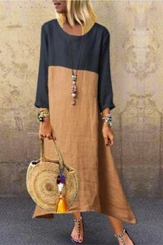 Blouse En Coton, Stitching Dresses, Unique Fashion, Womens Fashion, Casual Dresses, Summer Dresses, Maxi Dresses, Elegant Dresses, Floral Dresses