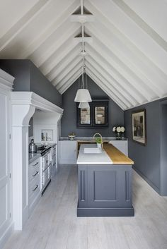 Grey Painted Kitchen, Paint For Kitchen Walls, Dark Grey Kitchen, Kitchen Wall Colors, Home Decor Kitchen, Kitchen Ideas, Kitchen Color Palettes, Kitchen Colour Schemes, Kitchen Paint Schemes