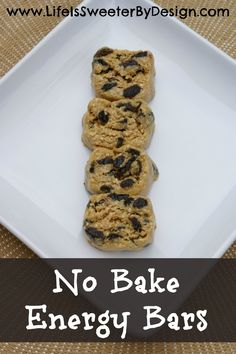 These gluten-free energy bars are a delicious, protein packed snack!