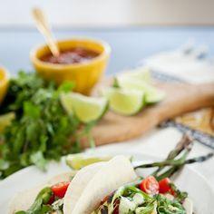 Fish Tacos with Avocado Crema
