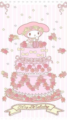My Melody (*^o^*) wedding cake