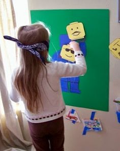 Pin the head on the Lego Man - might have to add this to the to do list for the party!