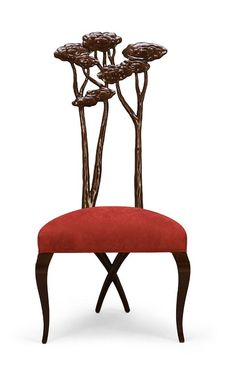 Art Nouveau Chair ( dining room - - Home Decorating Ideas ) Christopher Guy) seen these in gold frame and white seat and am in love Unusual Furniture, Funky Furniture, Rustic Furniture, Furniture Design, Luxury Furniture, Furniture Showroom, Urban Furniture, Street Furniture, Distressed Furniture