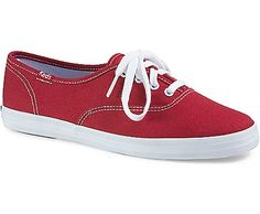 Just in time for fall, Keds Champion Originals in red.