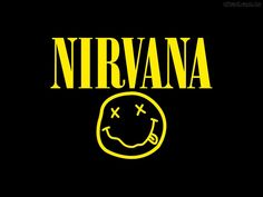 "The legendary Nirvana logo is Kurt Cobain's idea. Now the name of the band is impossible without ""Smiley Face"". Nirvana Logo, Nirvana Lyrics, Band Logo Design, Band Stickers, Laptop Stickers, Rock Band Logos, Rock Bands, Tumblr Tee, Band Wallpapers"