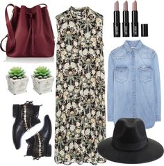 Floral Sleeveless Shirt Dress, Zara, Tunic with side slits, fedora, Fashion, style, polyvore, fashion blogger, lifestyle blogger, beauty blogger, blog post