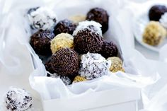 Chocolate fruitcake rum balls main image