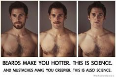 And weird asymmetrical chest hair should really be dealt with as soon as possible. All the rest is true.