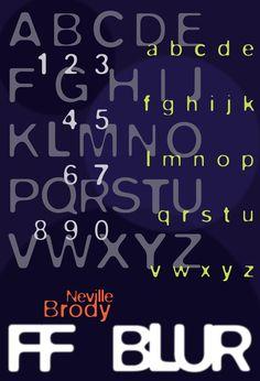 Neville Brody (designer), FF Blur font 1991.