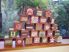 Stampin' Up! advent boxes for upcoming class - designed by Julia Leece