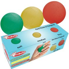 Relief from texting, typing and repetitive strain injury. FitBalls are an excellent hand strengthener and hand exerciser.