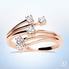 "Rosé gold ""Solas"" diamond ring for a brillant appearence #yorxs #diamantring #diamanten #rosé"