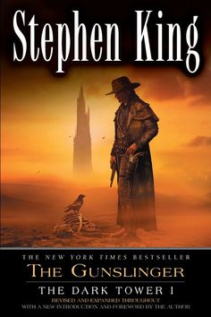 Stephen King's The Dark Tower Series: The Gunslinger.  it starts off slow but just keep reading and it will sink it's teeth into your brain.