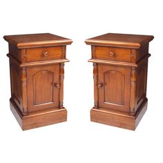 Colonial bedside cabinet carved BC01S C