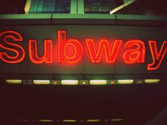 new york's subway neon