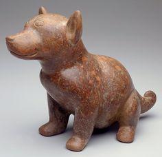 Perrito (Colima dog) Colima, Mexico, 100-300; red slip with burnishing.