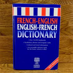 French-English Dictionary by Geddes & Grosset(Paperback) for sale online English French Dictionary, English English, Irregular Verbs, English Dictionaries, Reference Book, Travel Information, Vocabulary, Letter Board, Language