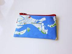 SALE  30% OFF  Venezia Italia Zipper pouch  printed by efratul