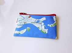Venezia Italia Zipper pouch  printed with the map of by efratul, $16.00