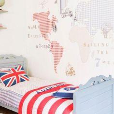 LOVE the Mural World Map wallpaper