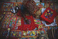 Artist at work.  Photo by Agnisha Basak