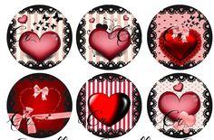 Création digitale Les petits cœurs en rayures - à imprimer à volonté 5 : Accessoires pour bijoux par crinolline