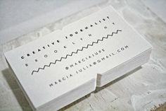Letterpress Business Cards for Journalist via Luis Nieto Dickens