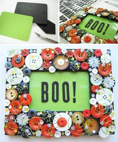 Boo! It's Halloween time again, and we're breaking out the black and orange craft supplies to honor one of our favorite holidays. Today, we have a fun mixe