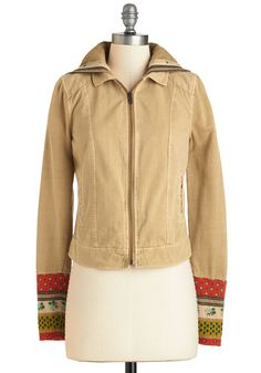 Lodge on the Lake Jacket. You were sure the countryside couldnt get any cozier, but then you discovered a quaint lake while sporting this khaki jacket! #tan #modcloth