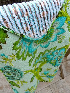 Baby quilt using chenille tutorial