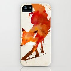 Vulpes vulpes iPhone & iPod Case by Robert Farkas - $35.00 Painted red fox in modern style