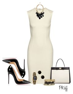 Board Meeting by pkoff on Polyvore featuring STELLA McCARTNEY, Christian Louboutin, Kate Spade, GUESS, Chanel and Milor