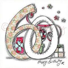60th Birthday Card | 60th Birthday Cards | Sixtieth Birthday Cards