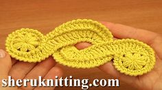 CROCHET FREEFORM Tutorial 16. http://sheruknitting.com/videos-about-knitting/crochet-elements-and-projects/item/652-crochet-elements-tutorial-16-guipure-crochet-motif-free-pattern.html  With this detailed crochet video tutorial you will learn how to crochet a beautiful motif which is often used in Freeform Crochet, Irish Lace Crochet, Guipure Lace Crochet.
