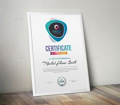 Buy Certificate by generousart on GraphicRiver. Features of Certificate Template Color Versions Paper Size With Bleeds Quick and easy to customize templates Chan.