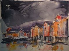 Warehouses Warehouses, My Arts, Painting, Painting Art, Paintings, Painted Canvas, Drawings