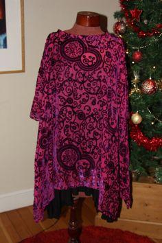 Cerise pink and purple silk devore velvet by Sassyandsustainable